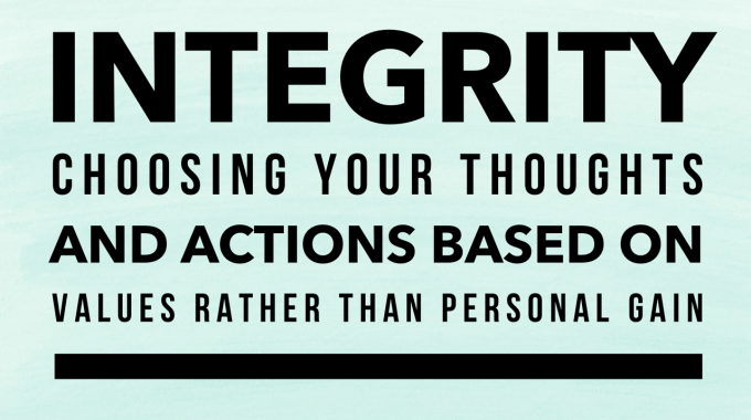 Integrity ~ Operating in Truth